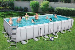 Bestway 24 ft rectangular above ground pool
